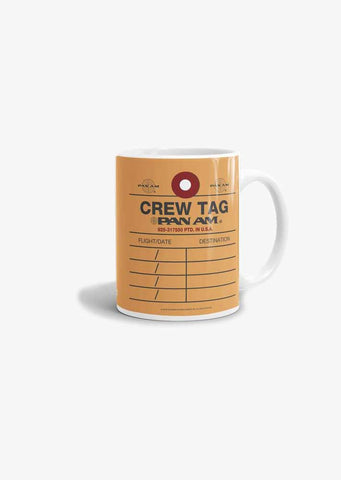 Pan Am Crew Tag Mug