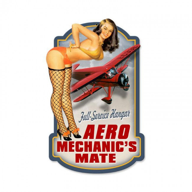 Aero Mechanic's Mate Tin Sign