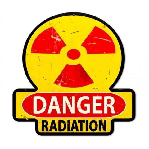 Danger Radiation Tin Sign