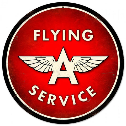 Flying A Service Tin Sign
