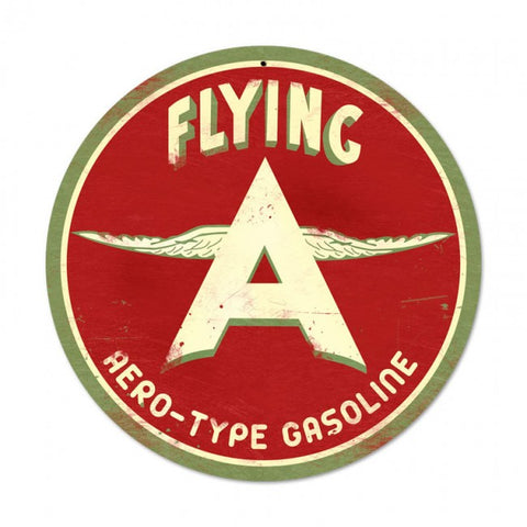 Flying A Gas Tin Sign
