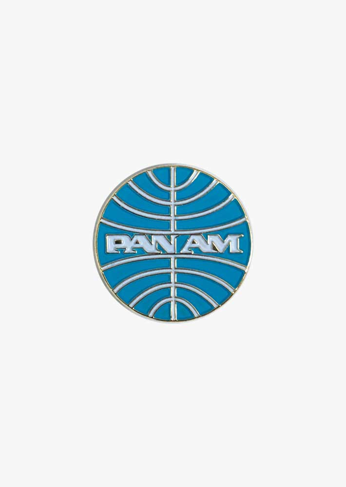 Pan Am Retro Round Logo Pin