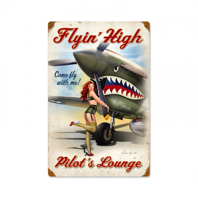 Flying High Tin Sign