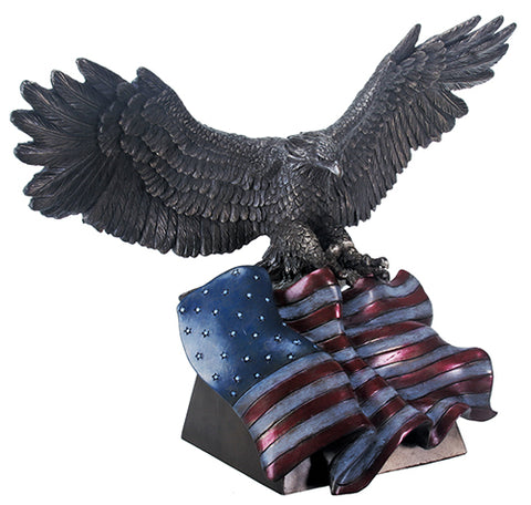 Bronze Eagle With Flag Statue