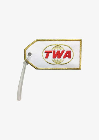 TWA Retro Gold Globe Bag Tag