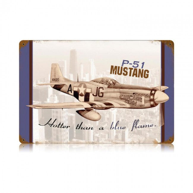 P-51 Mustang Chicago Tin Sign