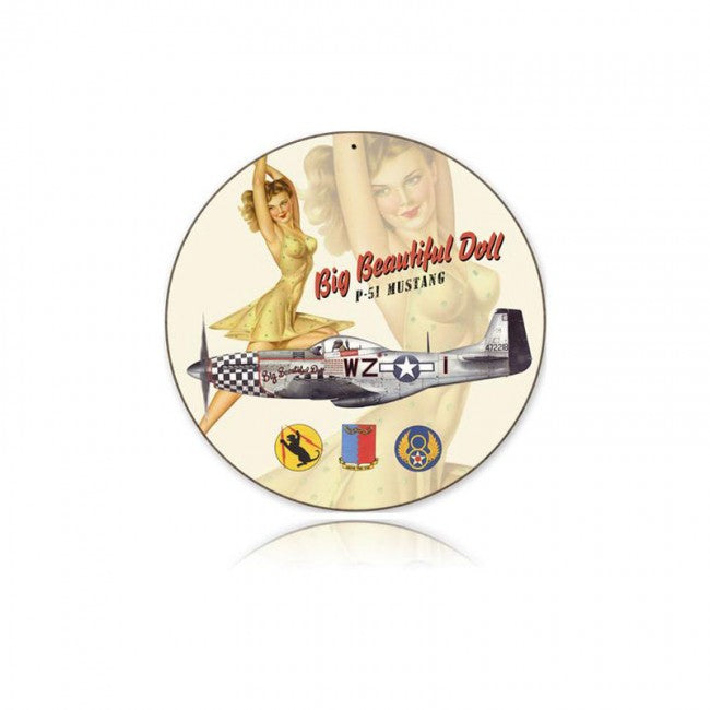 P-51 Big Beautiful Doll Tin Sign