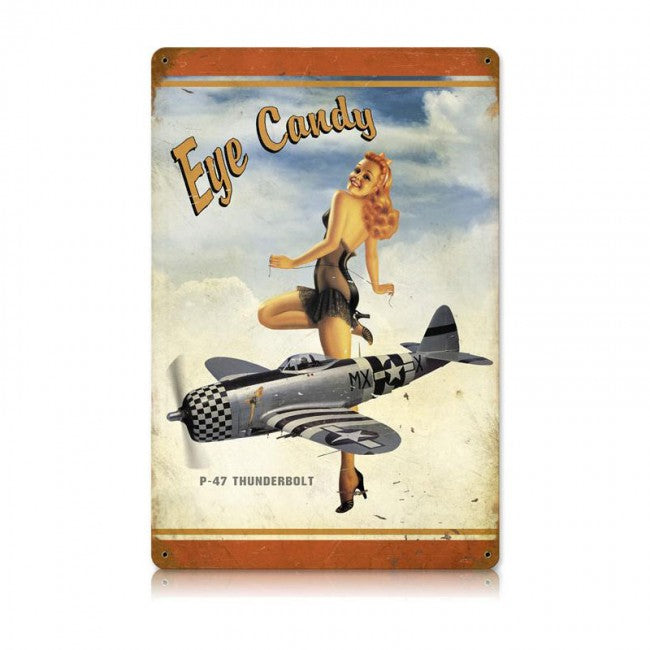P-47 Eye Candy Tin Sign