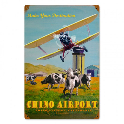 Chino Airport Tin Sign