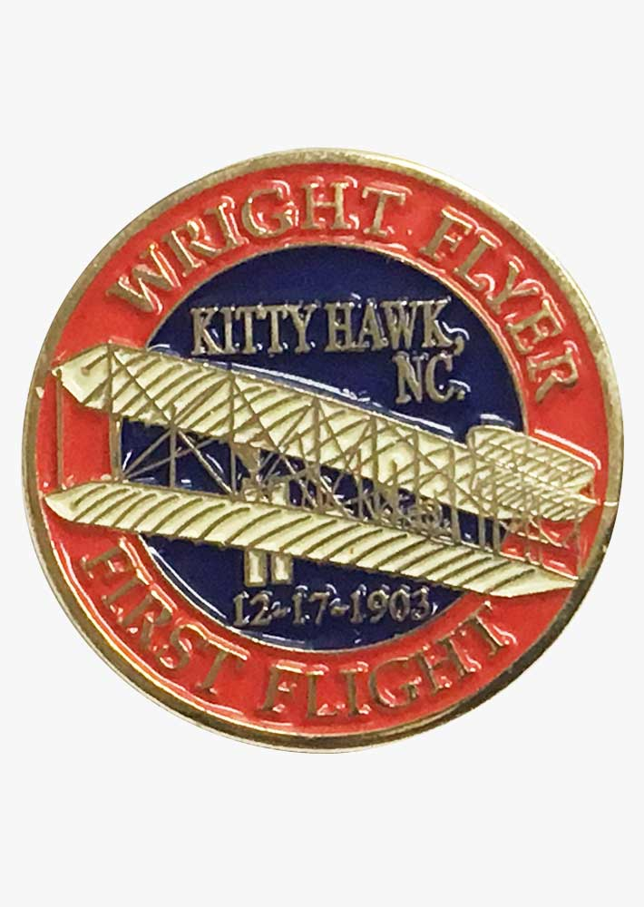 Wright Flyer Kitty Hawk Pin
