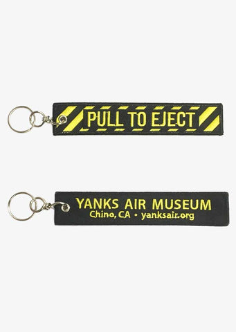 Yanks Pull To Eject Keychain