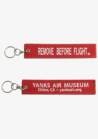 Yanks Remove Before Flight Keychain