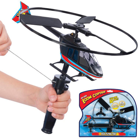 Sky Zoom Rip Cord Helicopter
