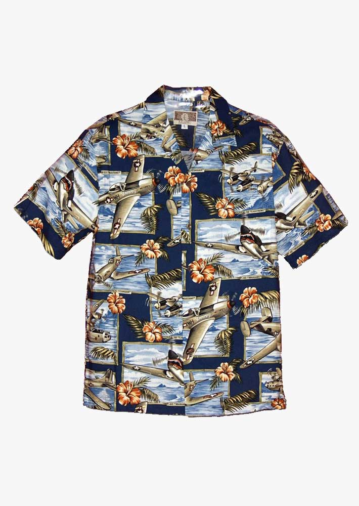 WWII Aircraft Hawaiian Shirt