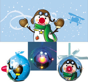 Snowman Light Up Ornament