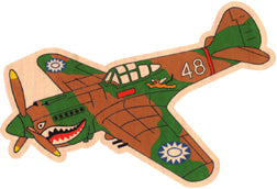 P-40 Wood Sticker