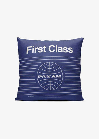 Pan Am First Class Throw Pillow