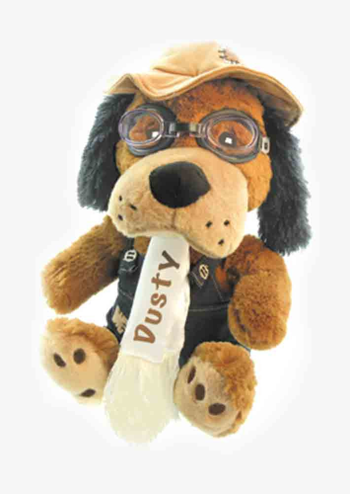 Plush Dusty the Dog Pilot
