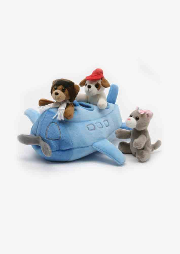 Plush Airplane Finger Puppets