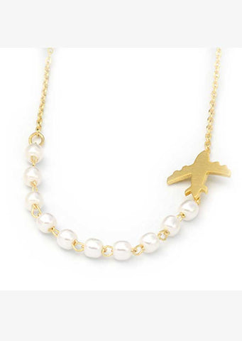 Airplane Pearl Necklace