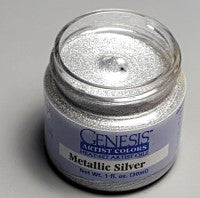Genesis Heat-Set Paint - Metallic Silver - 1oz