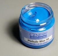 Genesis Heat-Set Paint - Phthalo Blue 04 - 1oz