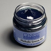 Genesis Heat-Set Paint - Phthalo Green 01 - 1oz