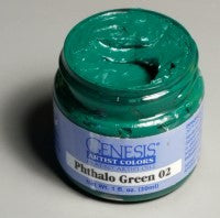 Genesis Heat-Set Paint - Phthalo Green 02 - 1oz