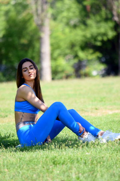 PAVIAN STRONGER leggings in SANTORINI BLUE