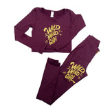 Highly Sustainable KITE leggings  Muscle Control BURGUNDY
