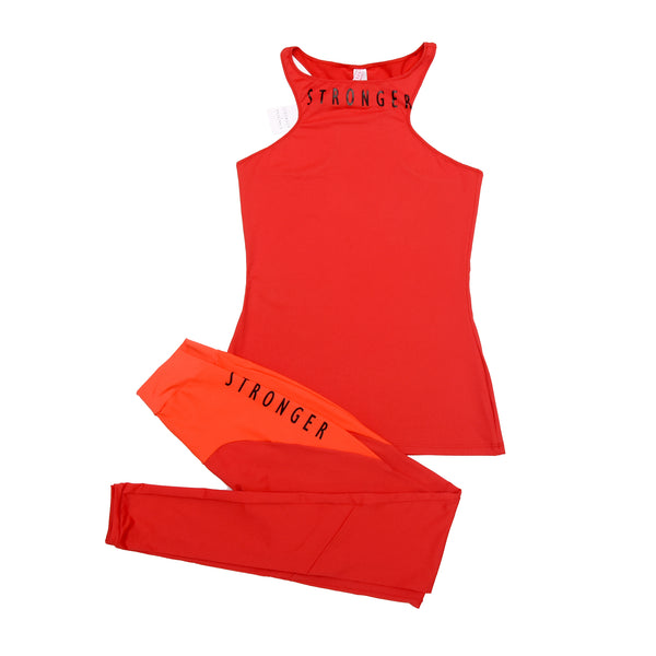 SANTORINI TOP  Active Wear RED
