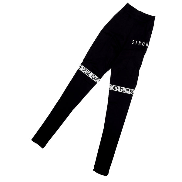 NEW COLLECTION STRONGER leggings in BLACK