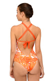 Camia One Piece Bikini Orange Garden Reversable NOW ON SALE