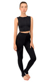 Matira Point Black Front zipped Active Wear Top NEW