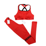 NEW YOGA Top Bra Active Wear RED