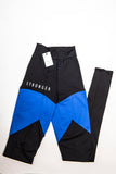 Highly Sustainable STRONGER leggings DUO Color Muscle Control BLUE/Black