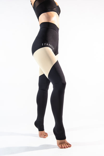 NEW COLLECTION STRONGER leggings in black/nude
