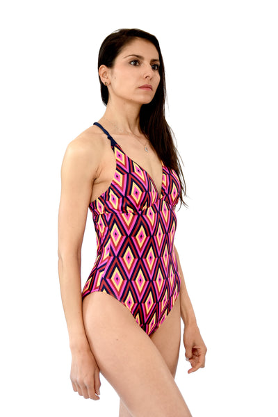 HAITI one piece padded low scoop back bikini in TRIBE COLLECTION