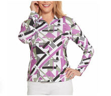 geometric ladies' golf outfit