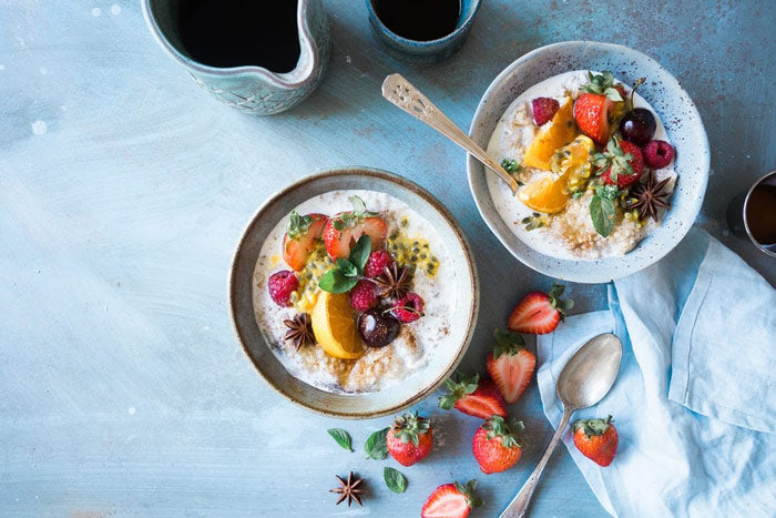 oatmeal and fruit bowl