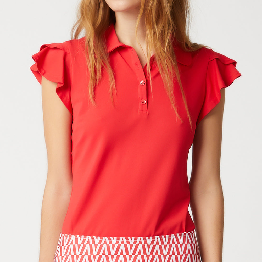 HARPER GOLF POLO - ESTATE RED