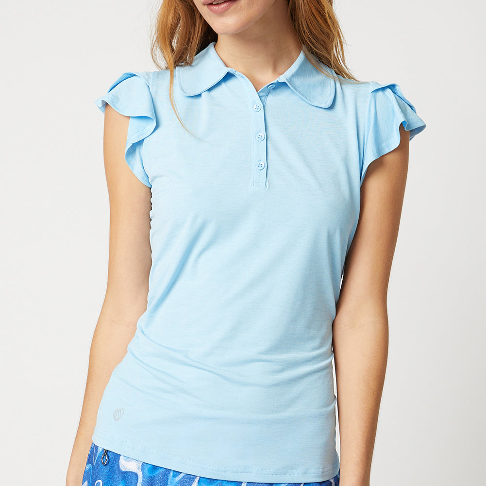 HARPER GOLF POLO - SKY