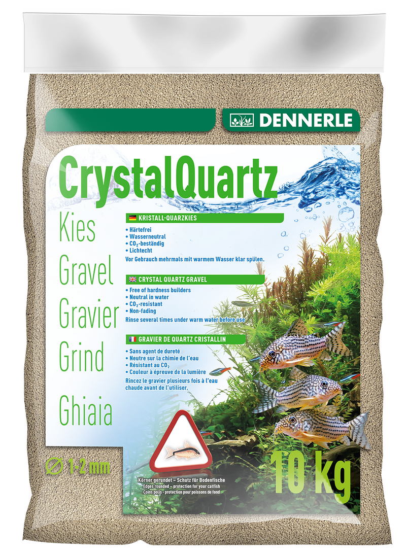 DENNERLE Crystal Quartz Gravel (Natural White / 10KG)