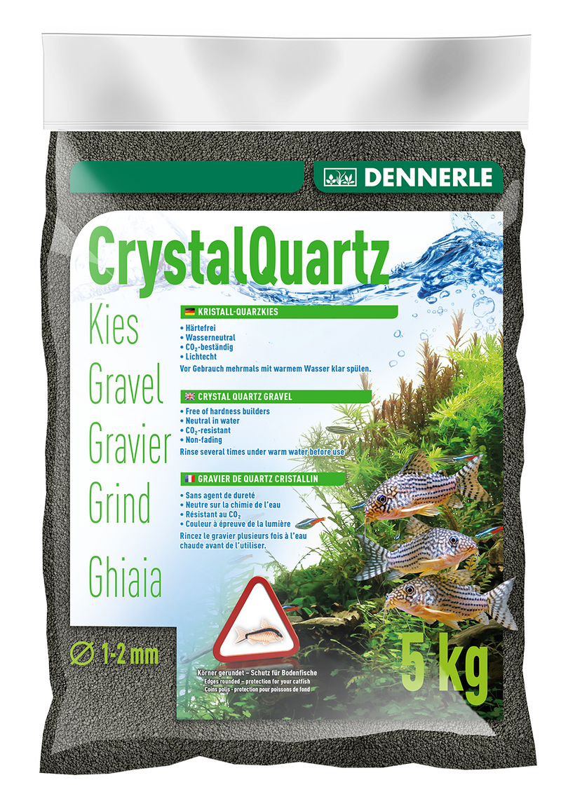 DENNERLE Crystal Quartz Gravel (Diamond Black / 10KG)