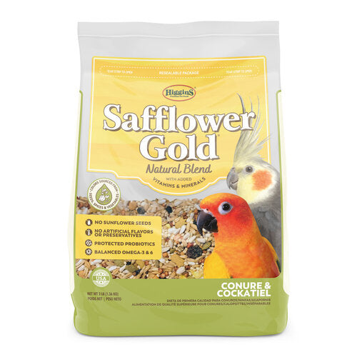 HIGGINS Safflower Gold® Conure/Cockatiel (3lb)