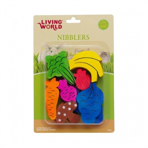 LIVING WORLD Nibblers Wood Chews (Fruit / Veggie Mix)