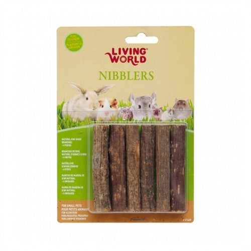 LIVING WORLD Nibblers Wood Chews - Kiwi Stick