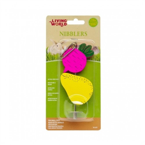 LIVING WORLD Nibblers Wood Chews (Beet and Pear)
