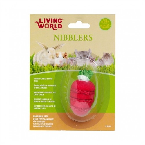LIVING WORLD Nibblers Loofah Chews (Strawberry)