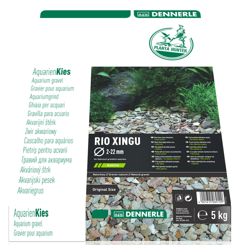 DENNERLE PlantaHunter Natural Gravel (RIO XINGU / 5KG / 2-22mm)
